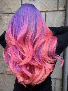 Delicious 😋 🤤 By guy tang 📌 - Friesuren.RainbowDelicious 😋 🤤 By guy tang 📌 Cute Hair Colors, Pretty Hair Color, Bright Hair Colors, Beautiful Hair Color, Hair Color Purple, Hair Dye Colors, Colorful Hair, Best Color Hair Dye, Fun Hair Color
