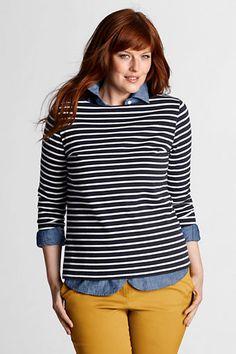 Plus Size Boatneck Sailor Tee