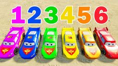LEARN NUMBERS - Lightning Mcqueen Colors Cars Spiderman Cartoon - Colors...