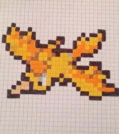 Pixel art pokemon oiseau