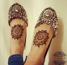 More than mehndi.love the jootis. Mehndi Designs Feet, Legs Mehndi Design, Henna Art Designs, Stylish Mehndi Designs, Mehndi Design Pictures, Mehndi Designs For Fingers, Beautiful Henna Designs, Mehndi Images, Bridal Mehndi Designs