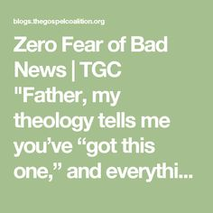 """Zero Fear of Bad News 