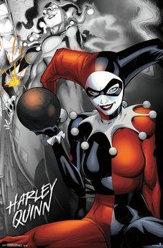 Harley Quinn Drawing, Joker And Harley Quinn, Batman Comics, Dc Comics, We Movie, Film Posters, Pop Culture, Spiderman, Superhero