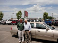 """All the way from Georgetown, Kentucky Welcome Rollie Graves """"Pictured with Brandon Ley""""! Congratulations on his purchase of a SHARP new Lincoln Town Car """"Signature Series""""! A BIG thanks from the Auto Group! We really appreciate the opportunity to earn your business and hope you enjoy your new ride!"""