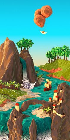 Low Poly Illustration, What's the Secret?