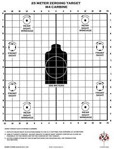 M4 Zeroing Target Printable