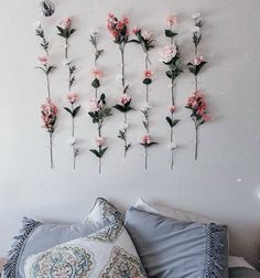 Spring blossoms make for sweet dreams. Go to the link in our Bio for more Pinte - Zimmerdekoration - Dorm Room College Dorm Decorations, College Dorm Rooms, Dorm Room Decorations, Dressing Room Design, Stylish Bedroom, Aesthetic Rooms, Hallway Decorating, Dream Rooms, Bedroom Decor