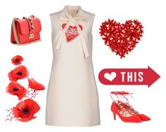 """#V"" by san-yay on Polyvore featuring Valentino, red, dress and valentino"