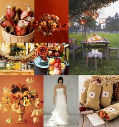 fall wedding flowers with wheat | ... Palette: {Apple Orchard 'I Do's'}: Apple, Burlap, Wheat & White