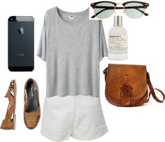 """inspired outfit for lunch in the park"" by hayleycarbran ❤ liked on Polyvore"