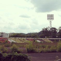 "Cтадион Жальгириса, который первоначально носил название ""Спартак"". #спартак #стадион #литва #жальгирис #футбол #граундхоппинг #динамо #торпедо #travel #groundhopping #soccer #fussball #fcsm #zalgirio #zalgiris #путешествие #vilnius #litva #amf Country Roads, Instagram Posts"