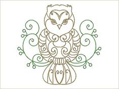 Redwork Enchanted Owls HatchedInAfrica.com | Product Details