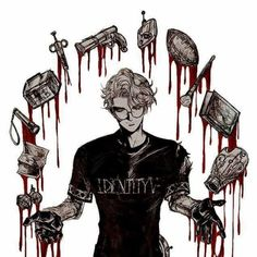 The power of Lucky guy Handsome Anime Guys, Identity Art, Persona 5, Coraline, Drawing S, Cool Drawings, Cute Art, Anime Art, Horror