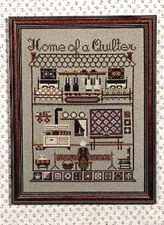 Told in the Garden.  Home Of A Quilter - 123 Stitch.  Completed this for a friend of mine and gave it to her as a gift..