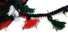 Tassel trim scarf lace sari border curtain trim Tassel Details-Distance between 1.5 inch-Price for 01 Yard-IDL22