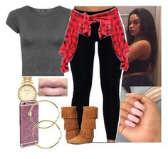 """Thursday , heading to school 😭"" by saucinonyou999 ❤ liked on Polyvore featuring Color Club, WearAll and Topshop"