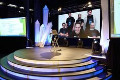 Global hackathon. International teams from 10 cities over 8 time zones present to Dragons Den via Skype.