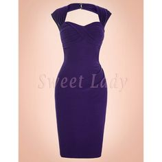 Úzke fialové šaty v retro štýle Bodycon Dress, Retro, Formal Dresses, Fashion, Moda, Formal Gowns, La Mode, Black Tie Dresses, Fasion