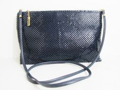 Vintage Purse: Whiting and Davis Navy Mesh by FairSails, $24.00