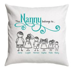Excellent Screen This Nanny Belongs To Cushion Cover, Personalised Nanny Pillow Cover, Choose Any Title, Many Colour Options Available Concepts Skilled gifts will be gifts which might be presented to all people with birthday parties, wedding 40th Birthday Quotes, 70th Birthday Gifts, Personalized Birthday Gifts, Birthday Gifts For Girls, Personalised Gifts, Mum Birthday, Birthday Parties, Nanny Quotes, Quotes Quotes