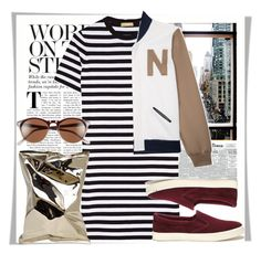 """NY Style"" by stylemeup007 ❤ liked on Polyvore featuring Michael Kors, Anya Hindmarch, House of Nomad, Lauren Ralph Lauren, A.J. Morgan, women's clothing, women, female, woman and misses"
