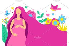Pretty Pregnant, Happy Pregnancy, Butterfly Design, Baby Shower Invitations, Art Drawings, Aurora Sleeping Beauty, Silhouette, Disney Princess, Disney Characters