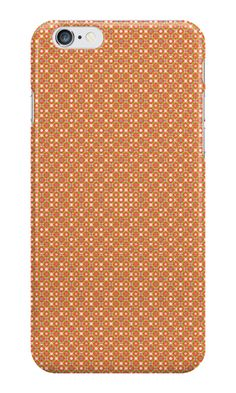 Pattern #1015 - orange #IPhone #case / #skin with pattern http://www.redbubble.com/people/kuzmich/works/20886678-pattern-1015-orange?c=488730-the-patterns&p=iphone-case&ref=work_collections_grid