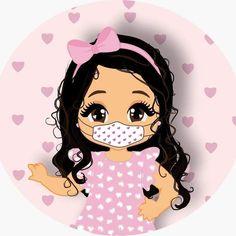 Mascotinha, identidade visual com mascara protetora Clay Crafts, Coloring Books, Chibi, Minnie Mouse, Disney Characters, Fictional Characters, Doodles, Clip Art, Kawaii