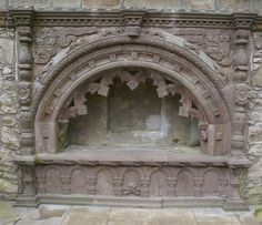 Tarves Medieval Tomb, Aberdeenshire, Scotland, tomb of William Forbes, 7th Lord of Tolquhon.