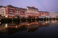 Disney's Boardwalk Inn- Beautifully appointed rooms, shingled rooftops, private courtyards and magnificent gardens combine to recreate the charming atmosphere of romantic bed-and-breakfast inns found along the mid-Atlantic coast of the 1940s. Plus bustling nightclubs, restaurants and shops at Disney's BoardWalk entertainment district, adjacent to the Resort, recapture the fun and excitement of bygone waterfront villages and shorelines.