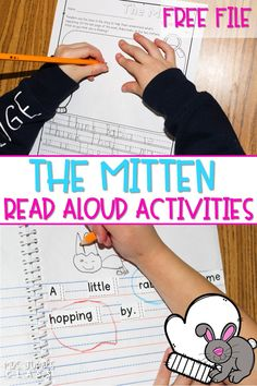 The Mitten lesson plans for teaching reading comprehension skills. Responding to literature through writing, studying vocabulary, and a STEM activity. #themitten #engagingreaders #readinglessonplans