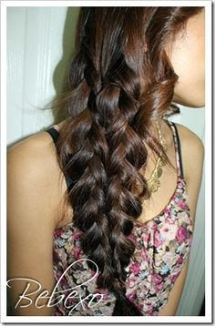 mermaid tail braid - I did this today to my hair. Everyone asked how I did it. Super easy to do. Love it may be doing this a lot.