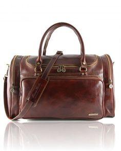 PRAGUE TL1048 Travel leather bag - Borsa da viaggio in pelle