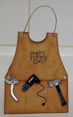 "Love this card!  I taught an ""Apron Cards"" class years ago...I made several cards including one with a measuring tape hanging out of the pocket, plus, a cooking apron, a gardening apron and a BBQ apron.  Fun class!  I'll see if I can find pics and post them on my board."
