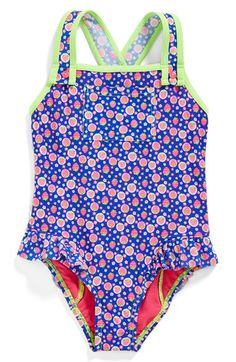 Hula Star 'Strawberry Fields' One-Piece Swimsuit (Toddler Girls & Little Girls) available at #Nordstrom
