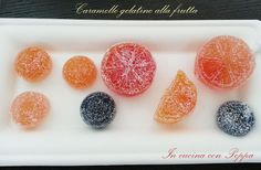 Caramelle gelatine alla frutta