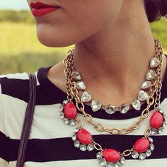 Our top seller! A combination of 3 necklaces: Christina Link, Somervell, and Mae.  Very versatile, you can dress this up and down, wear it without the combo, whatever you please! Get yours at www.stelladot.com/dianachen