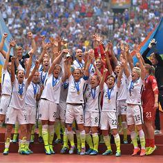 WE...together #USWNT23 and #BestFansInTheWorld are World Cup Champions. #OneNationOneTeam