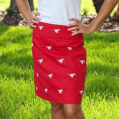 Pennington and Bailes school logo skirt | #SouthernStyle #GameDay | SouthernStyle.com