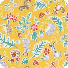 Kokka - Cute animals on yellow