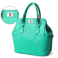 Blue/Green Top Handle Waffle Tote Bag. $42.00. Love this bag! Shop goodkoop and get the current trends at 1/3 the retail price.
