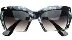 Collette Cat Eye Sunglasses in Marble