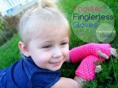 Toddler Fingerless Gloves (free!)