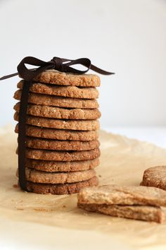 Almond, Buckwheat and Cardamom Cookies Recipe. Lovely crunchy gluten-free cookies lightly sweetened with maple syrup.