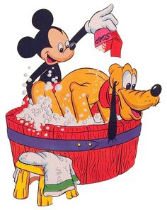mickey mouse taking bath pictures - Google Search