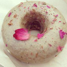 Eat this, vegans: Earl Grey donut at Cartems Donuterie inVancouver. #vegan #food