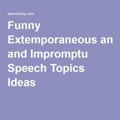 fun speeches to give