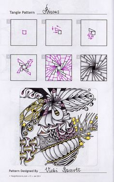 Уроки по шагам « Doodling&Zentangle