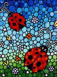 ladybug abstract art - Bing Images
