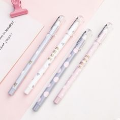 4PCS Ink Gel Pen Black Frosted Pens Writing Marker Office Stationery Supply
